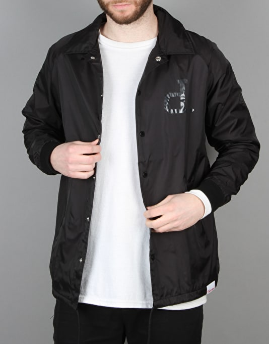 Diamond Supply Co. Tonal Un Polo Coach Jacket - Black