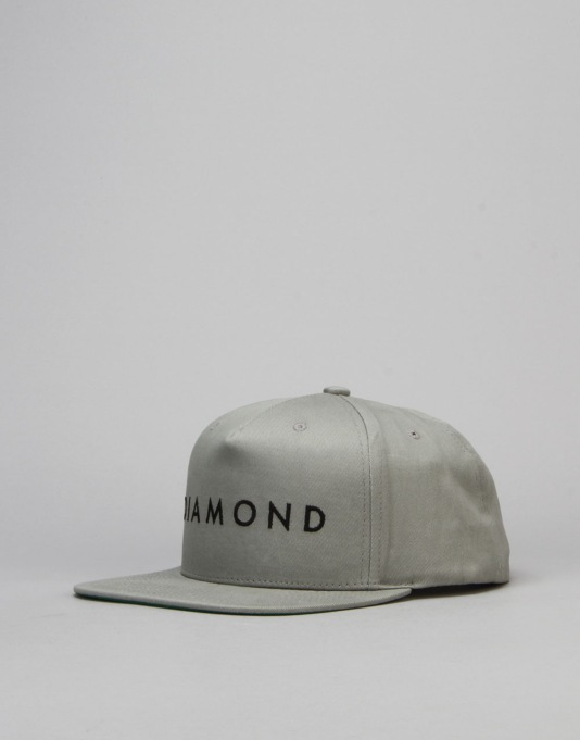 Diamond Supply Co. Facet Snapback Cap - Heather Grey