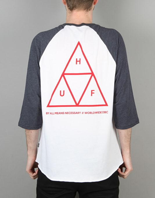 HUF Triple Triangle Raglan T-Shirt - Navy Heather