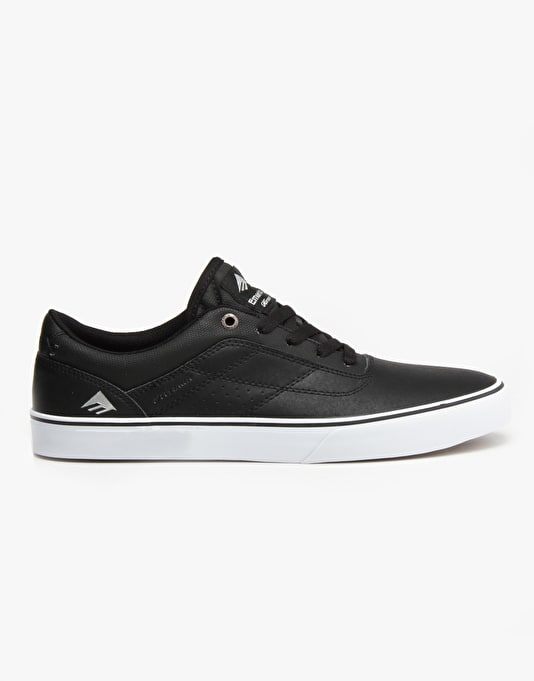 Emerica The Herman G6 Vulc Skate Shoes - Black/White/Gum