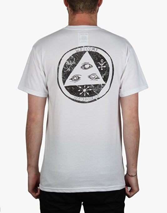 Welcome Talisman Fill T-Shirt - White/Black Marble