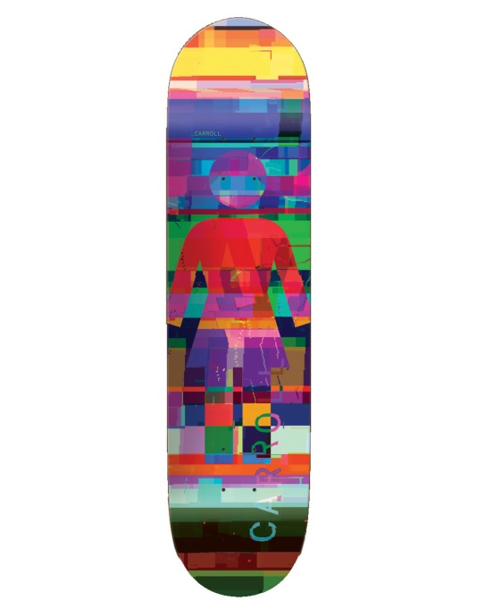 Girl Carroll Glitch Mode Skateboard Deck - 8.125""