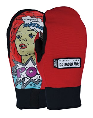 Pow Everyday 2016 Snowboard Mitts - Red