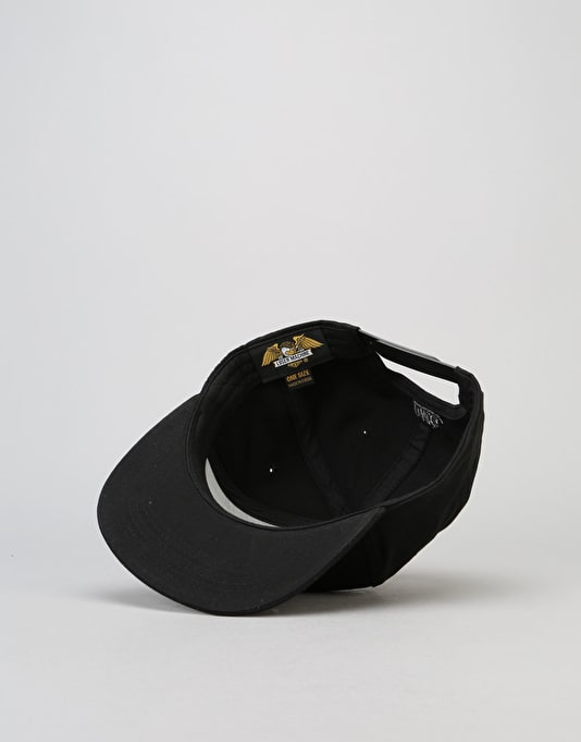 Loser Machine Broken Spoke Snapback Cap - Black