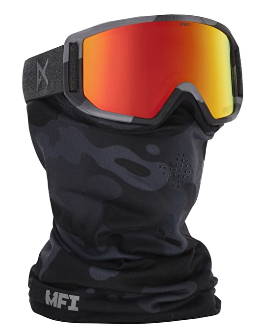 Anon Relapse MFi 2016 Snowboard Goggles - Undefeated/Red Solex