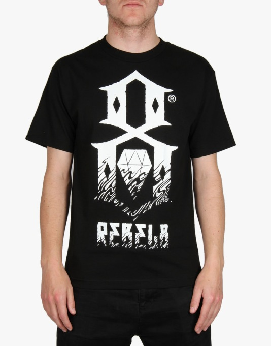 Rebel8 Doom Up In Flames T-Shirt - Black