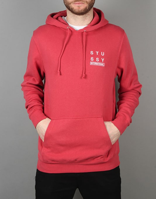 Stüssy City Stack Pullover Hoodie - Salmon