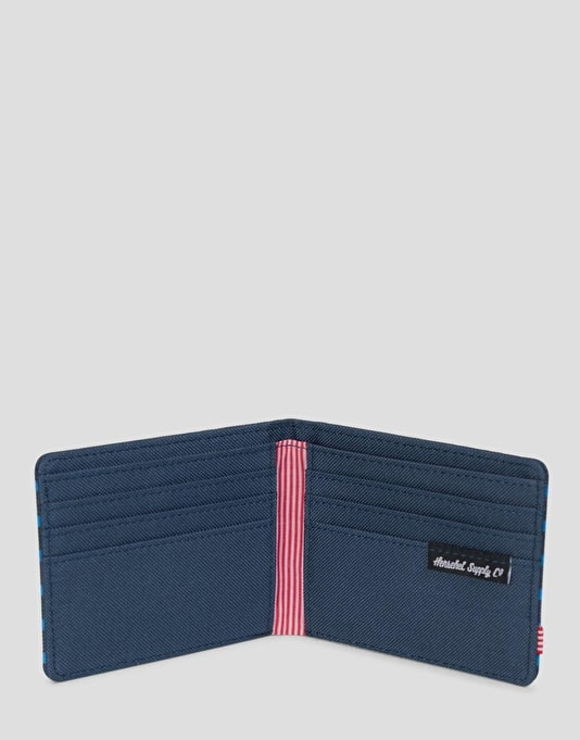 Herschel Supply Co. Roy Wallet - Navy/Cobalt Stripe
