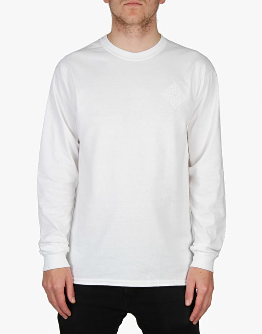 The National Skateboard Co. Division L/S T-Shirt - White