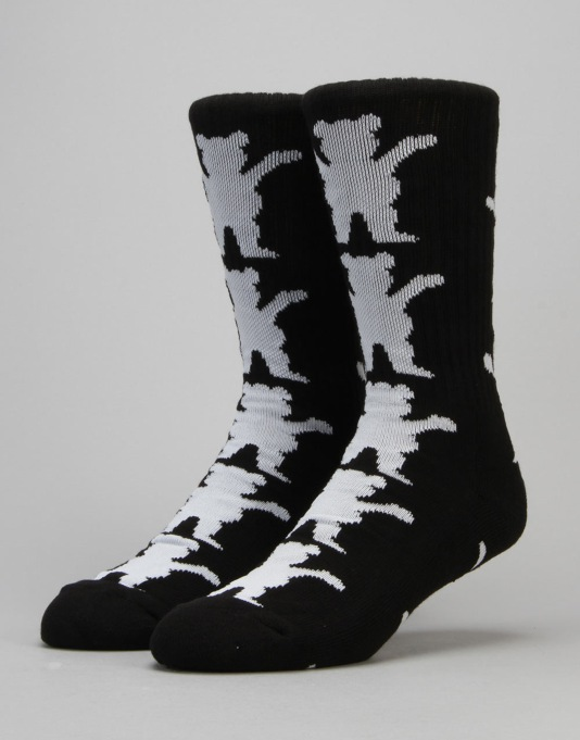 Grizzly Repeat Socks - Black
