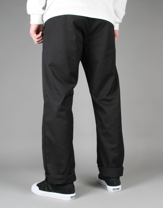 Carhartt Station Pant - Black Rinsed