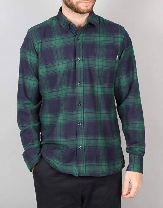 Route One Burt Flannel Shirt - Navy/Green