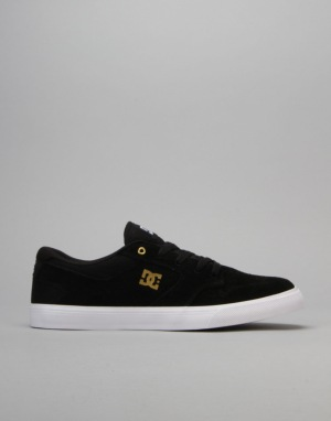 DC Argosy Vulc Skate Shoes - Black/Gold
