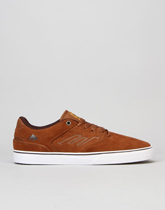 Emerica The Reynolds Low Vulc Skate Shoes - Brown/White/Gum
