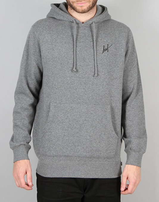 HUF Muted Military Classic H Pullover Hoodie - Grey Heather
