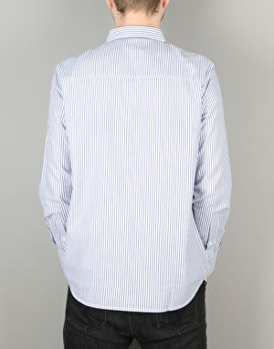 Wemoto Sanitago L/S Shirt - White/Navy Blue