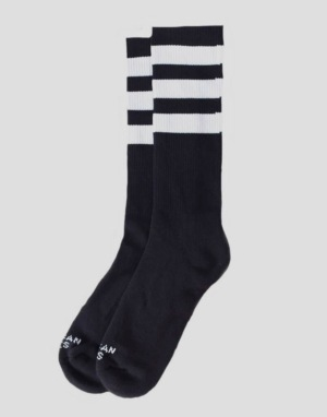 American Socks Back In Black Mid High Socks - Black/White