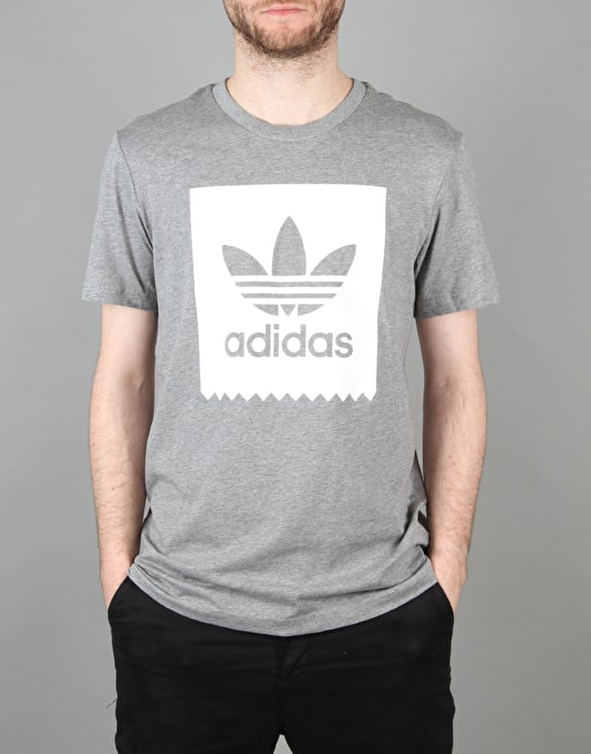 Adidas BLKBRD Logo Fill T-Shirt - Core Heather