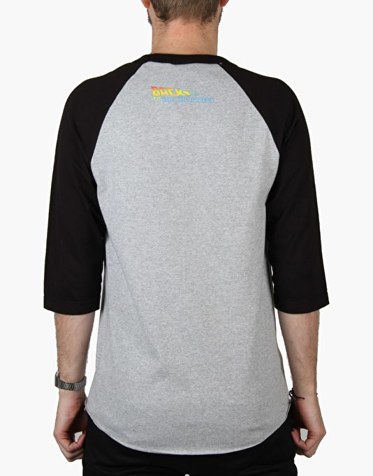 The Hundreds x Back to the Future Lorraine Glam Raglan - Heather/Black