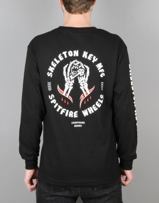 Spitfire x Skeleton Key L/S T-Shirt - Black