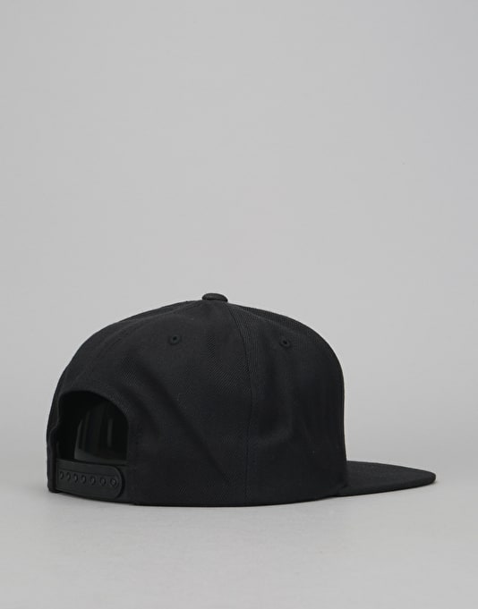 Route One Arch Logo Snapback Cap - Black