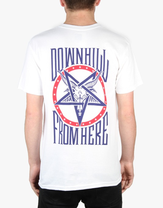 HUF x Thrasher Down From Here T-Shirt - White