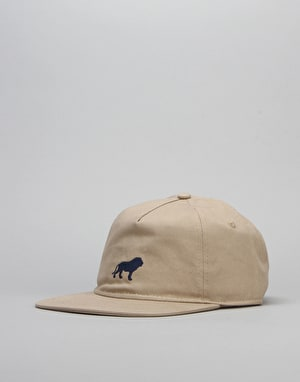 Hopps Lion Adjustable Fit Strapback Cap - Khaki