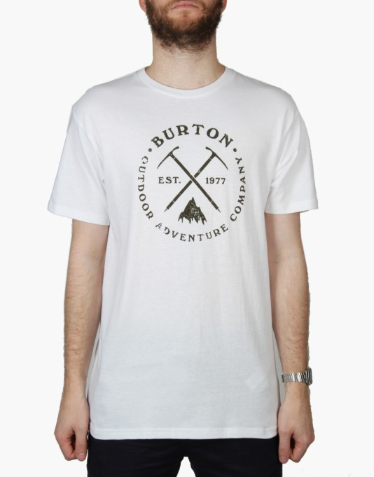 Burton Pick Axe SS T-Shirt - Stout White