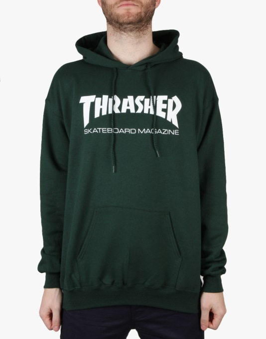 Thrasher Skate Mag Logo Pullover Hoodie - Forest Green