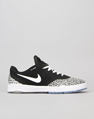 Nike SB Paul Rodriguez 9 Elite T Skate Shoes - Black/White