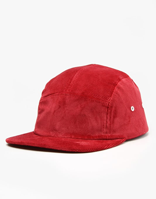 Hélas Sunday 5 Panel Cap - Burgundy Corduroy