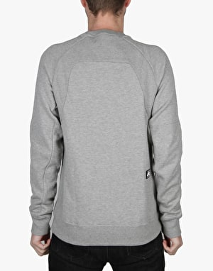 Nike SB Everett Motion Fleece Crew - Dk Grey Heather/Black