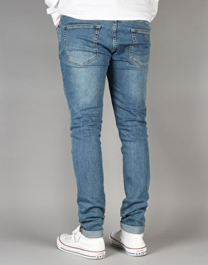 Route One Super Skinny Denim Jeans - Washed Blue