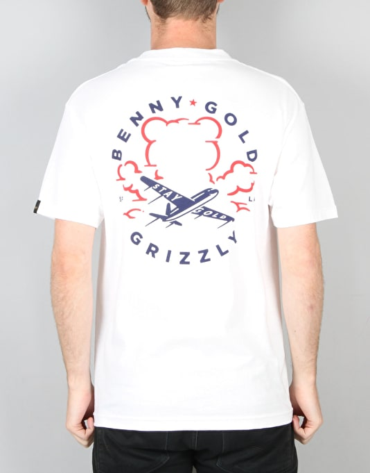 Grizzly x Benny Gold Stay Grizzly T-Shirt - White