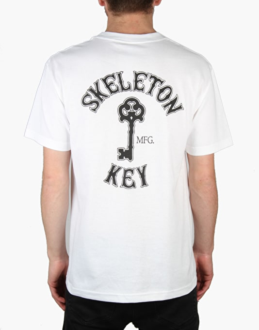 Skeleton Key Branded Key T-Shirt - White