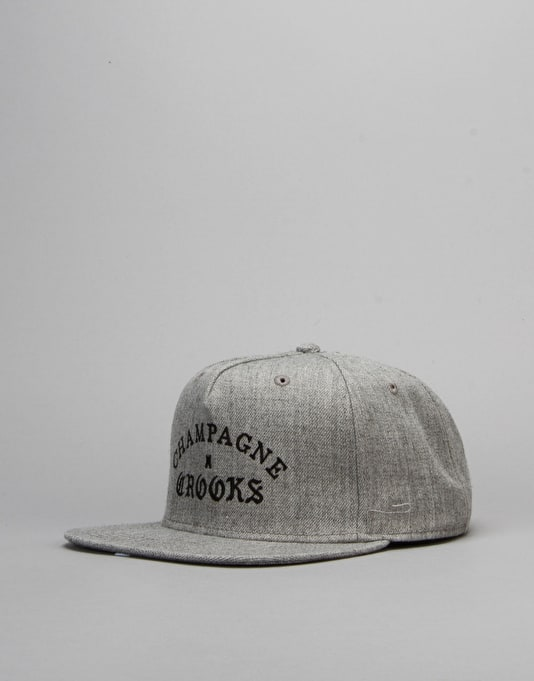 Crooks & Castles Champagne Crooks Snapback Cap - Speckle Grey