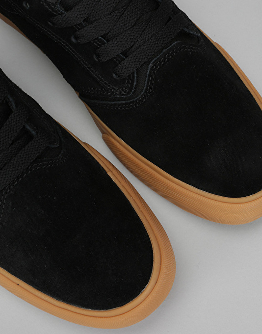 Supra Shredder (Lizard King Signature) Skate Shoes - Black/Gum