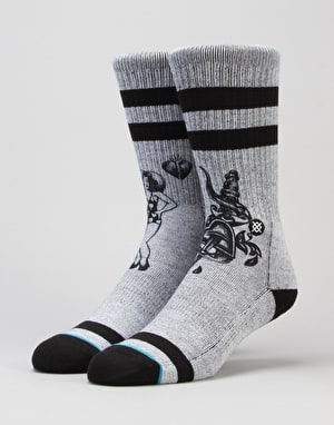 Stance Heart Break Classic Crew Socks - Grey