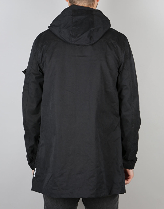 Bellfield Hylon Parka Jacket - Black