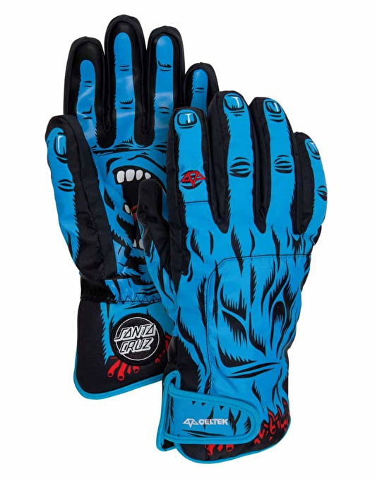 Celtek Faded 2016 Snowboard Gloves - Screaming Hand