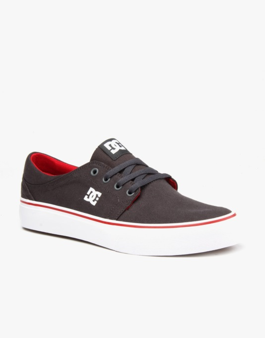 DC Trase TX Skate Shoes - Dark Shadow