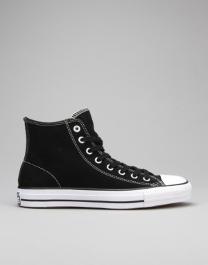 Converse CTAS Pro Hi Skate Shoes - Black/White