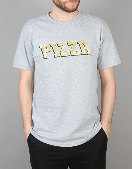 Pizza Pizla T-Shirt - Heather Grey