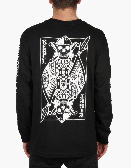 Rebel8 Wild Card L/S T-Shirt - Black