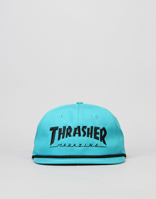Thrasher Rope Snapback Cap - Teal/Black