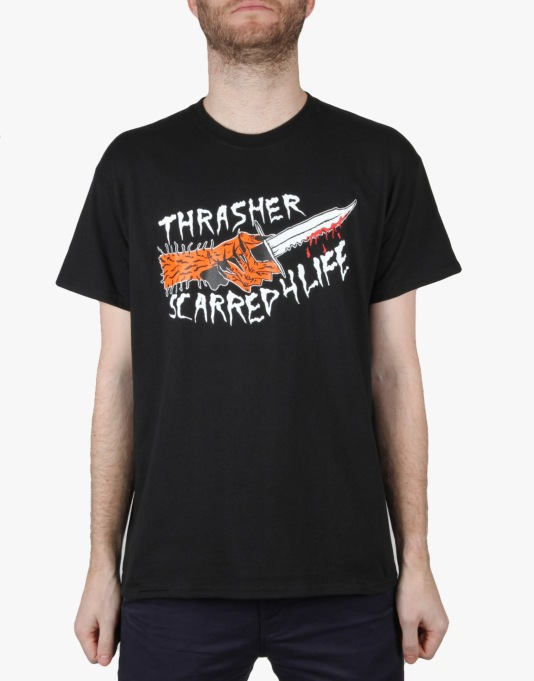 Thrasher x Neck Face Scarred T-Shirt - Black  f24ad5c5ea