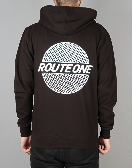 Route One Trippin' Zip Hoodie - Black