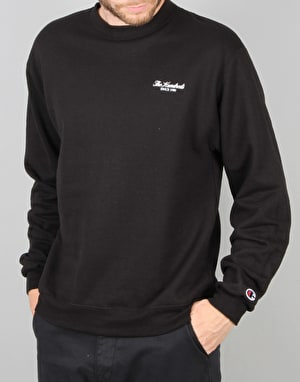The Hundreds x Champion Rich Logo Crew Neck - Black