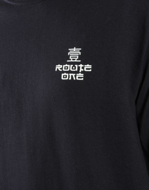 Route One Fastplant LS T-Shirt - Black