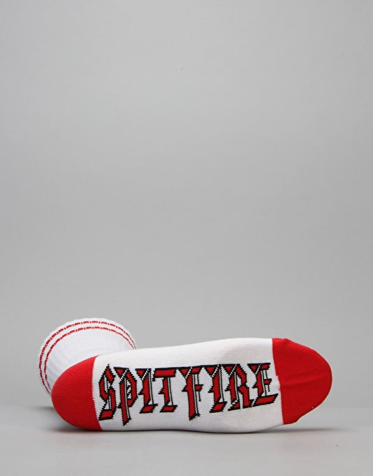 Spitfire Bighead Old E Socks - White/Red